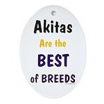Akita Best of Breeds Keepsake (Oval)