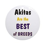 Akita Best of Breeds Keepsake (Round)