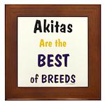 Akita Best of Breeds Framed Tile