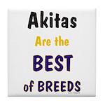 Akita Best of Breeds Tile Coaster