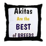 Akita Best of Breeds Throw Pillow