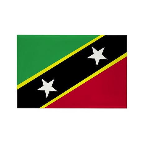 St. Kitts & Nevis Rectangle Magnet (10 pack)