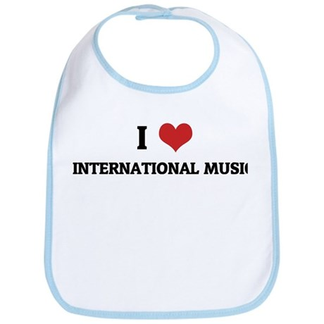 I Love International Music Bib