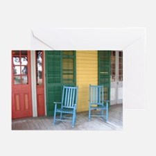 6 Greeting Cards - Porch with Rocking Chairs