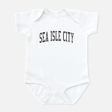 Sea Isle City New Jersey NJ Black Infant Bodysuit