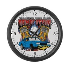 Demolition Derby Large Wall Clock