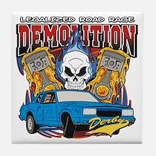 Demolition Derby Tile Coaster