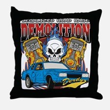 Demolition Derby Throw Pillow