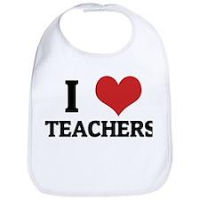 I Love Teachers Bib