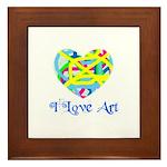 I LOVE ART Framed Tile