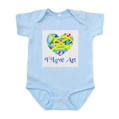 I LOVE ART Infant Creeper