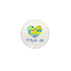 I LOVE ART Mini Button (100 pack)