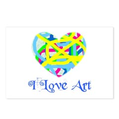 I LOVE ART Postcards (Package of 8)