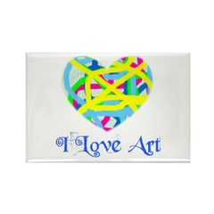 I LOVE ART Rectangle Magnet