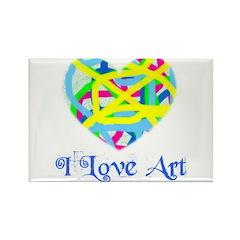 I LOVE ART Rectangle Magnet (100 pack)