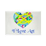 I LOVE ART Rectangle Magnet (10 pack)