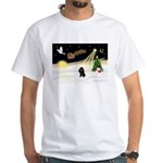 Night Flight/Poodle (Min) White T-Shirt