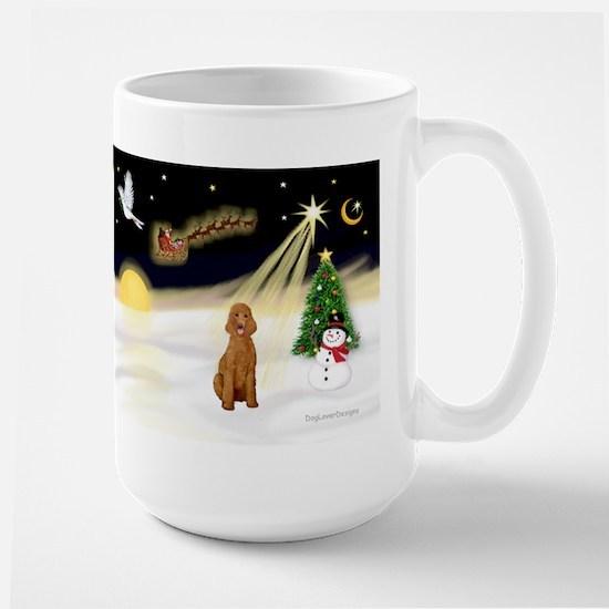 Night Flight/Poodle Std Large Mug