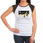 Night Flight/Poodle Std Women's Cap Sleeve T-Shirt
