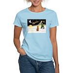 Night Flight/Poodle Std Women's Light T-Shirt
