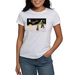 Night Flight/Poodle Std Women's T-Shirt