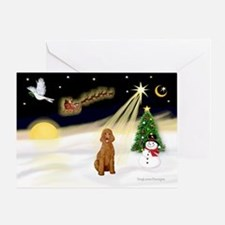 Night Flight/Poodle Std Greeting Card