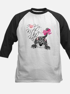 I Love My Kitty Kat Kids Baseball Jersey
