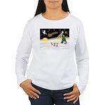 Night Flight/3 Chihuahuas Women's Long Sleeve T-Sh