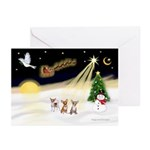 Night Flight/3 Chihuahuas Greeting Cards(Pk of 20)