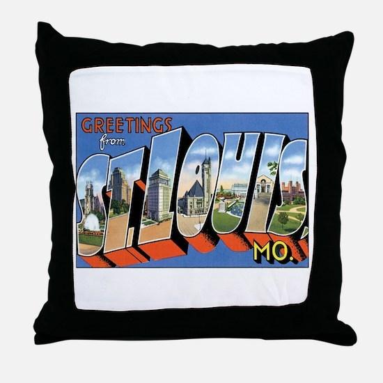 ST.Louis Missouri MO Throw Pillow