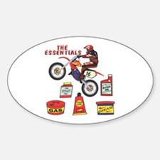 The Dirtbike Essentials Oval Decal