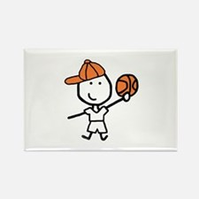 Boy & Basketball Rectangle Magnet