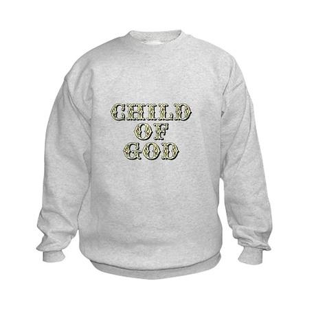 Child of God - Yellow Kids Sweatshirt