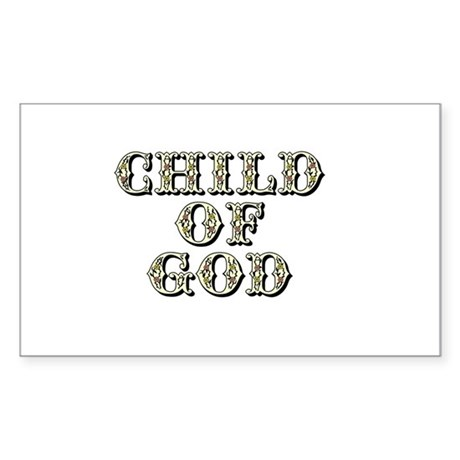 Child of God - Yellow Rectangle Sticker