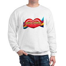 Yes to Love Hearts and Rainbo Sweatshirt