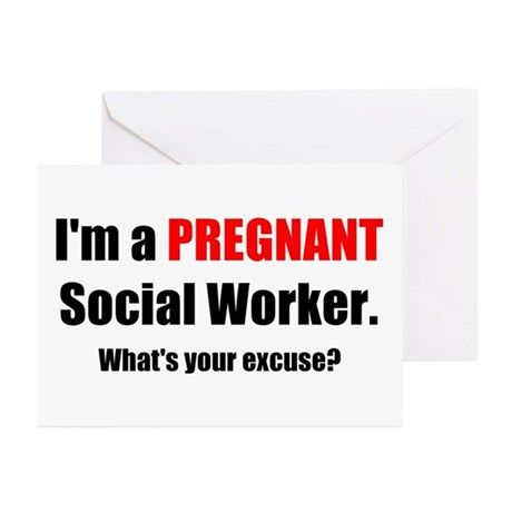 Pregnant SW Excuse Greeting Cards (Pk of 20)