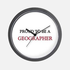 Proud to be a Geographer Wall Clock