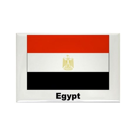 Egypt Egyptian Flag Rectangle Magnet