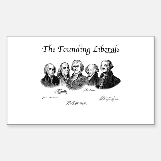 America's Founding Fathers Rectangle Decal