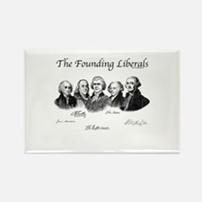America's Founding Fathers Rectangle Magnet