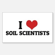 I Love Soil Scientists Rectangle Decal
