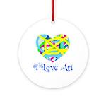 I LOVE ART  Keepsake (Round)