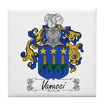 Vanucci Family Crest Tile Coaster