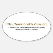 'OneLife2Give' Oval Decal