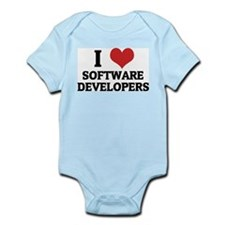 I Love Software Developers Infant Creeper