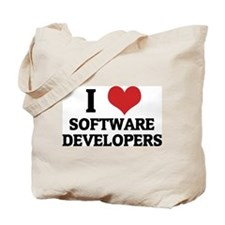 I Love Software Developers Tote Bag