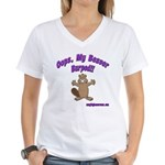 Oops Beaver Burp Women's V-Neck T-Shirt