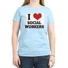 I Love Social Workers Women's Pink T-Shirt