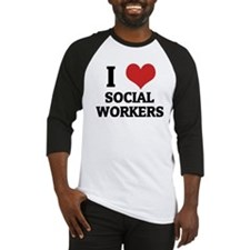 I Love Social Workers Baseball Jersey
