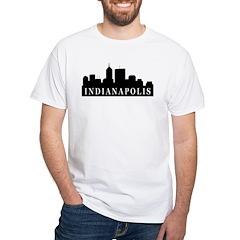 Indianapolis Skyline White T-Shirt
